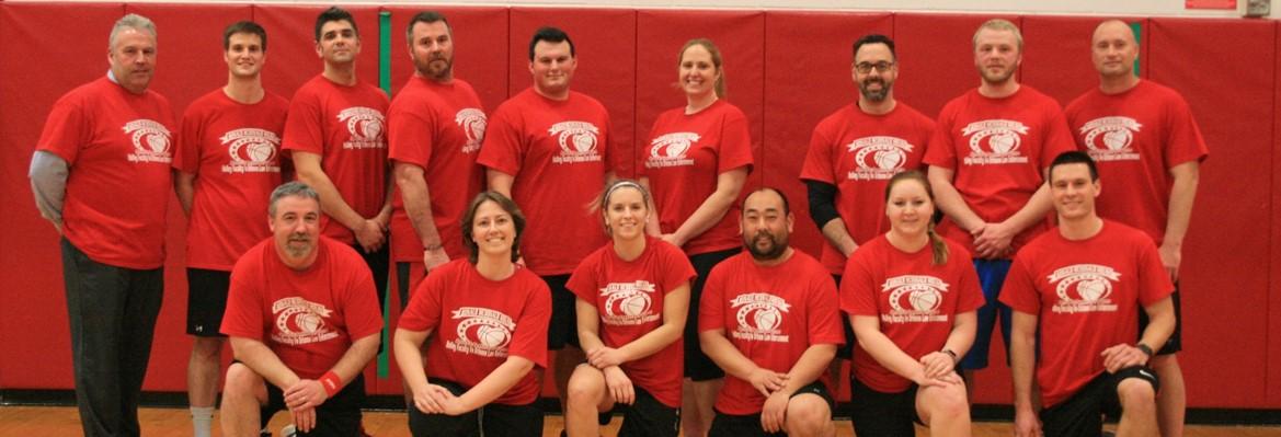 holley staff basketball team