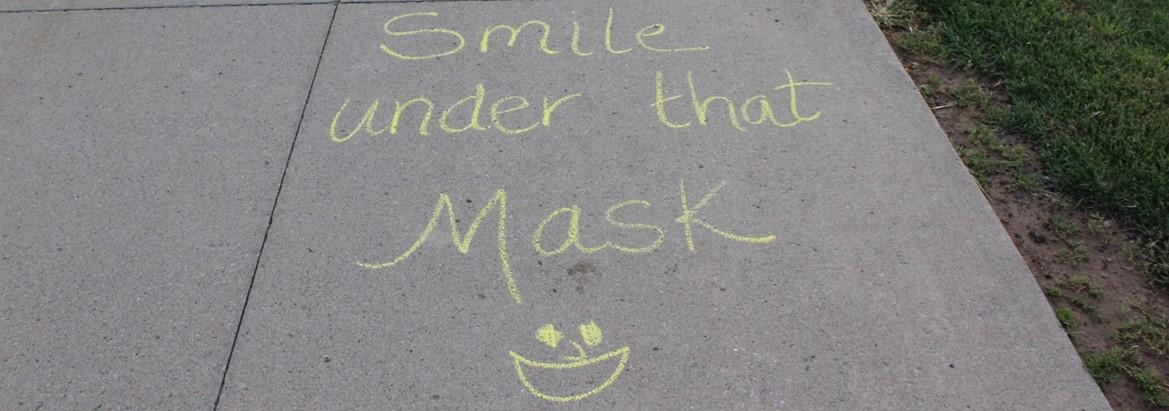 chalked art on sidewalk